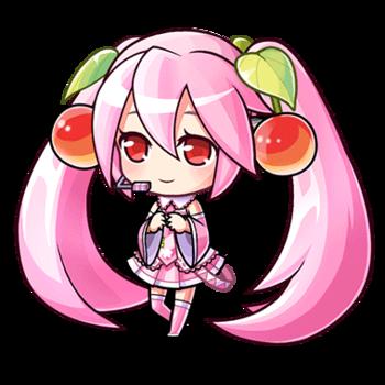 Sakura Miku Chibi by xRosyda