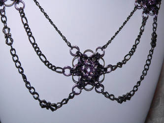 Purple Chainmaille Necklace by judysmith