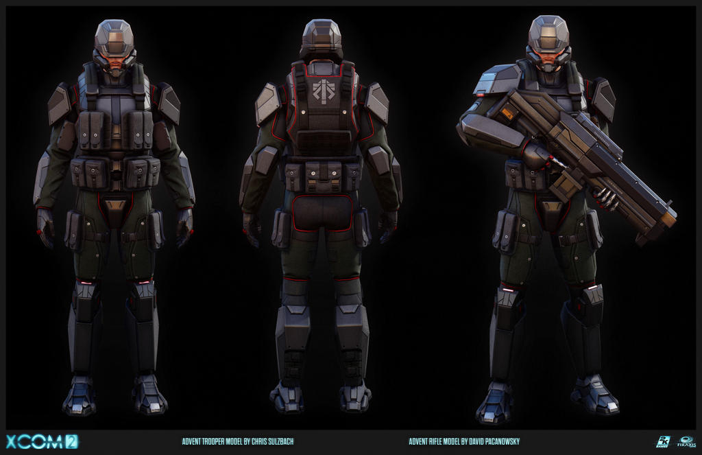 the universe of xcom advent advent trooper by. Black Bedroom Furniture Sets. Home Design Ideas