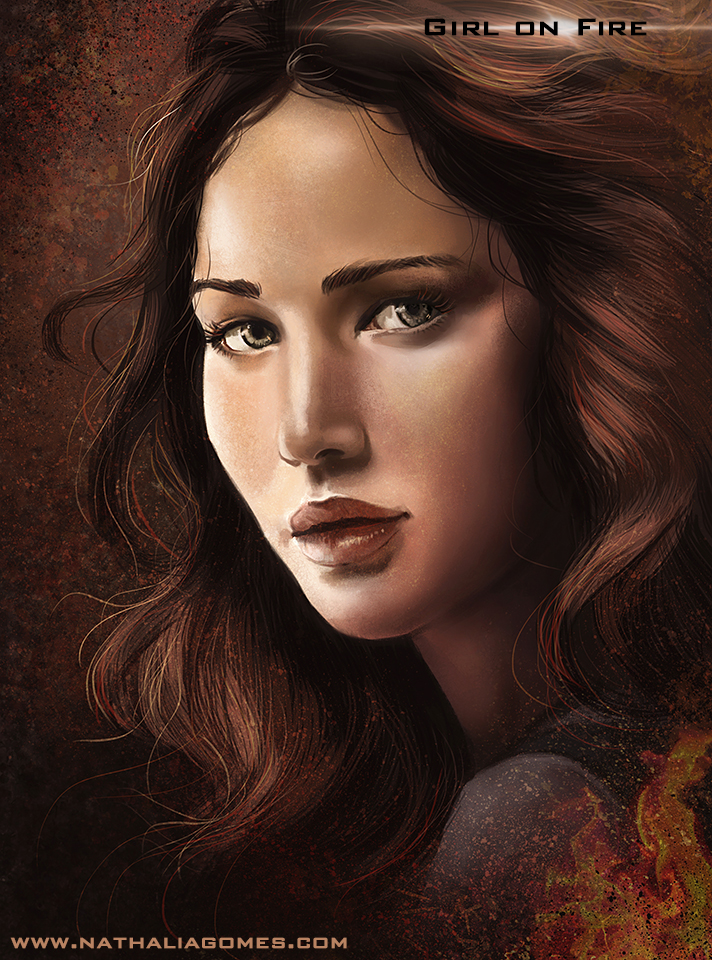 Girl on fire by nathaliagomes