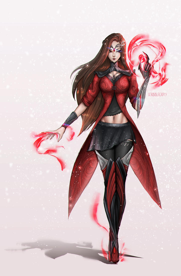 Scarlet Witch ~ Costume Redesign by infinitydevin on DeviantArt