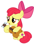 Apple Bloom Playing the Guitar Vector