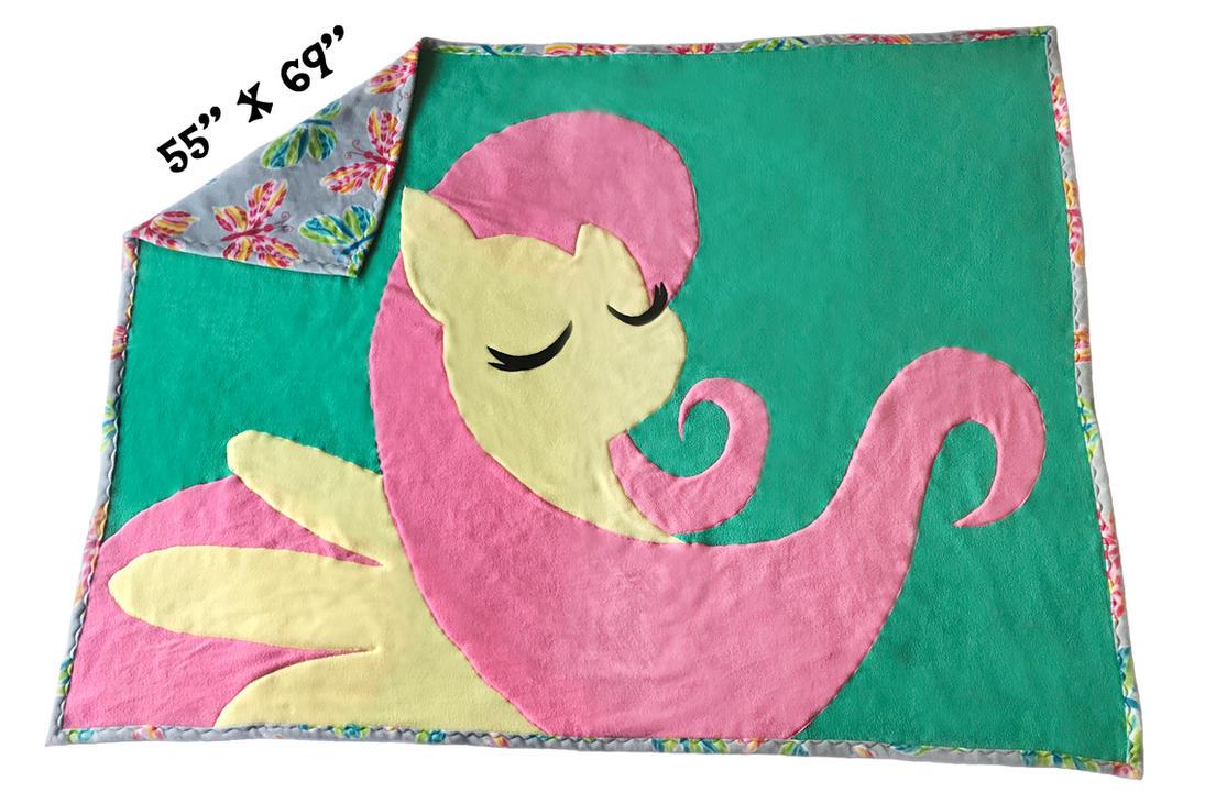 FOR SALE~ Handmade GIANT Fluttershy Blanket by Magpie-pony