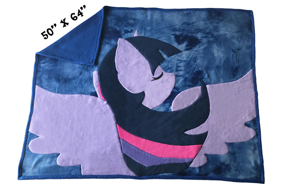 FOR SALE~ Handmade GIANT Twilight Sparkle Blanket by Magpie-pony