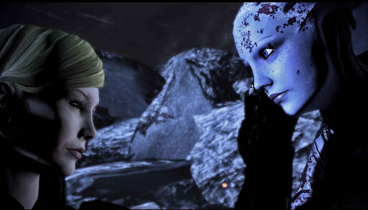 Mass Effect 3 Liara and Shepard by rienquedesmoutonsMass Effect 3 Liara And Shepard