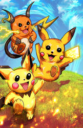 pikachu evolution by VegasDay