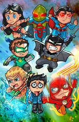 Chibi Justice league by VegasDay