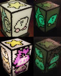Kirby's Dreamland 2 beadsprite lamp cover by psycosulu