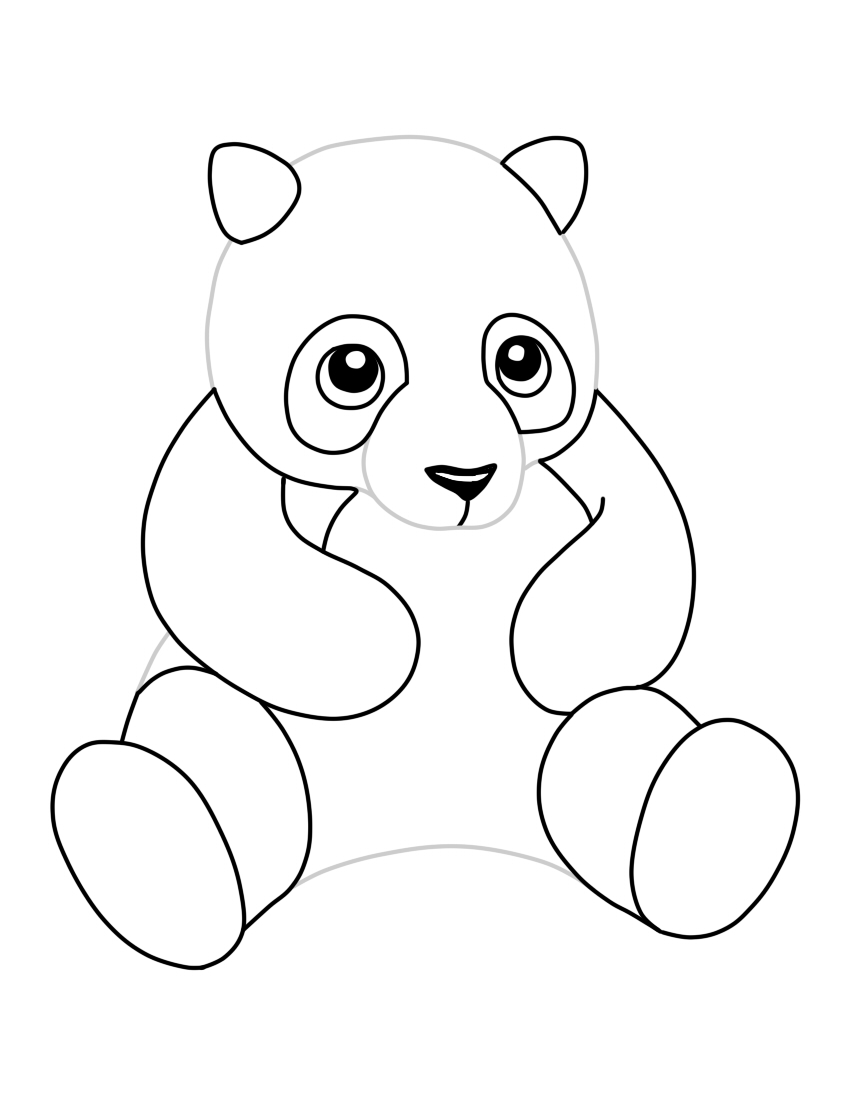 Panda Head Pages Coloring Pages