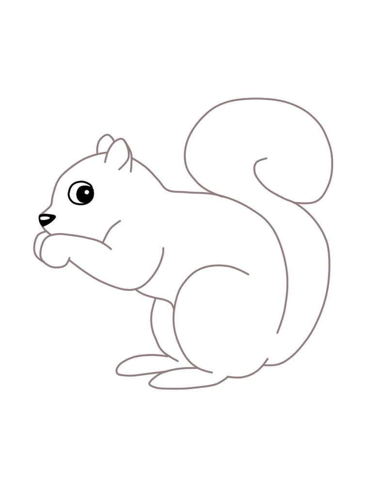 Line Drawing Squirrel : Squirrel lineart by tamalasghost on deviantart
