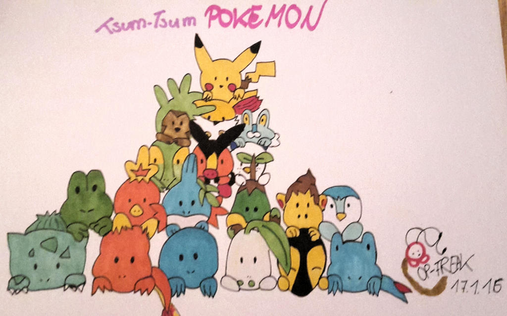 Pokemon Tsum Tsum by OnePieceFreak15