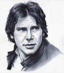 Han Solo Sketch by SSwanger