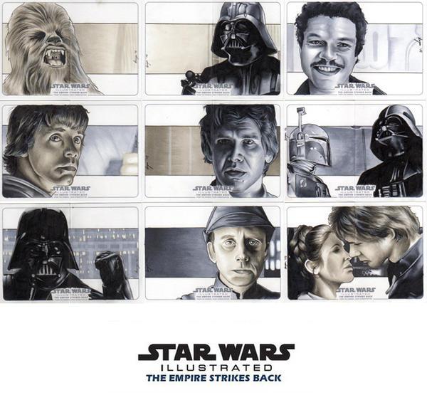 Topps Empire Strikes Back Illustrated Set #1 by SSwanger