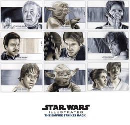 Topps Empire Strikes Back Illustrated Set #2