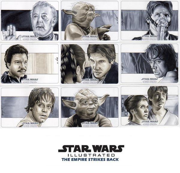 Topps Empire Strikes Back Illustrated Set #2 by SSwanger