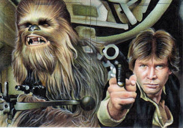 Han and Chewbacca by SSwanger