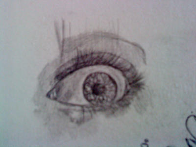 A Sketch Of A Eye Of A Very Scared Girl. By Sergiomelim On DeviantArt