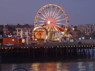 santa monica pier ferris wheel by celestialdebris
