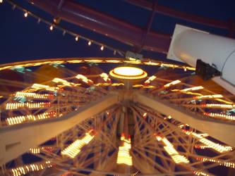 santa monica ferris wheel by celestialdebris