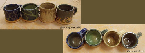 wax resist glaze test by celestialdebris