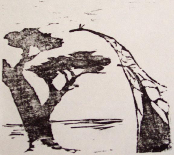 giraffe family test print by celestialdebris