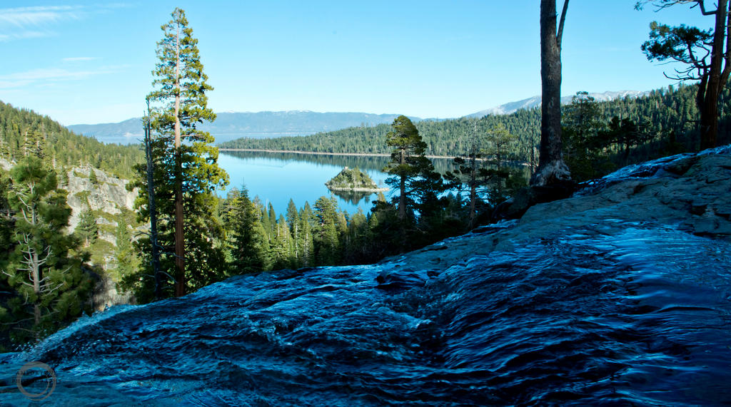 Emerald Bay from Eagle Falls by sintar