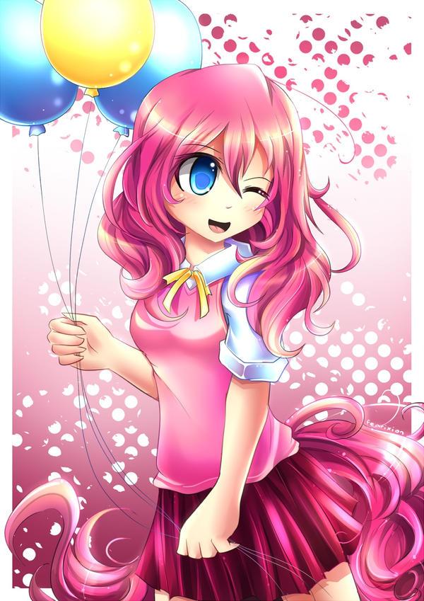 MLP Gakusei : Pinkie Pie by Fenrixion