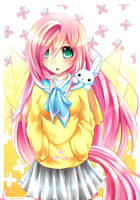 MLP Gakusei : Fluttershy by Fenrixion