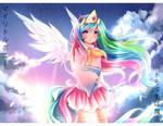 MLP Gakusei : Princess Celestia by Fenrixion