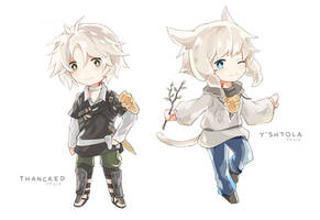 Final Fantasy XIV - Thancred and Y'shtola by Fenrixion