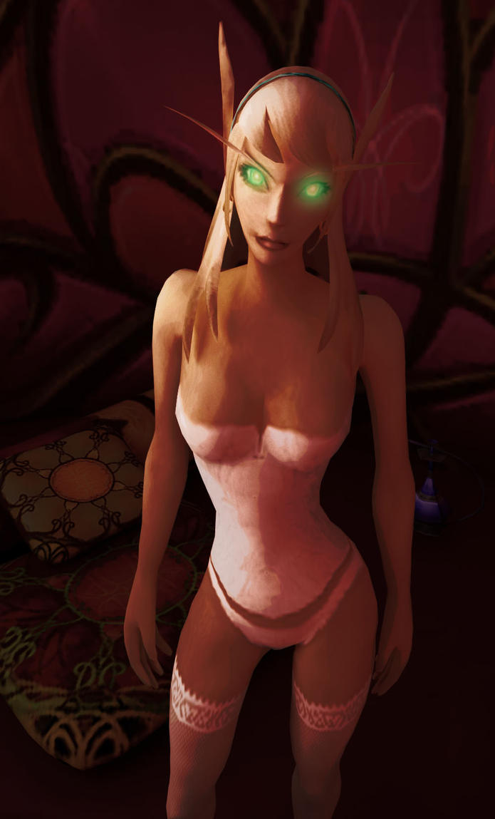 Nude female blood elf art sexy tube