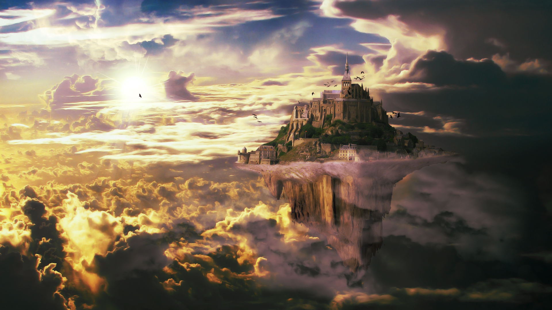 Skyland wallpaper by appoh on deviantart - Fantasy land wallpaper ...