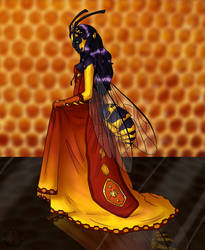 Honey Queen Vespa by Alieraah