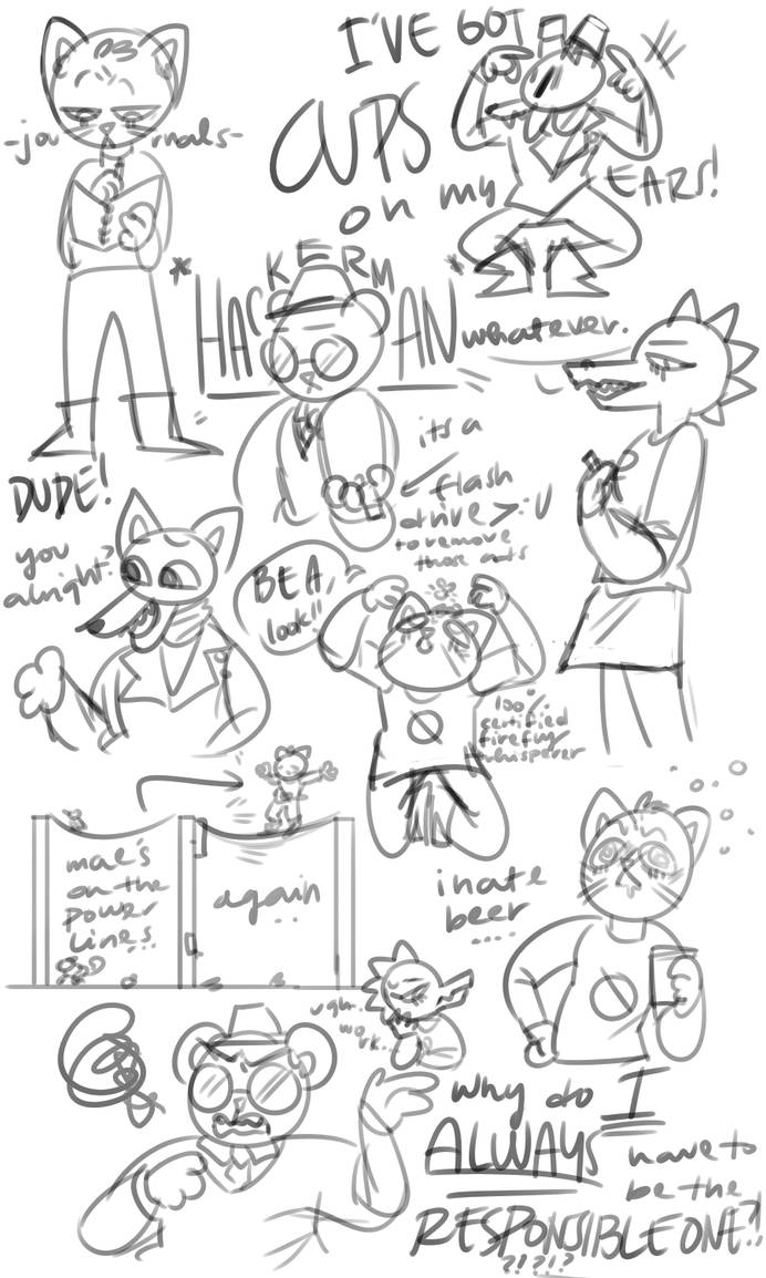 some nitw doodles and i cant title rn by purikins on DeviantArt