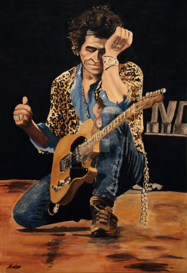 Keef (Keith Richards) by raVen-MacKay