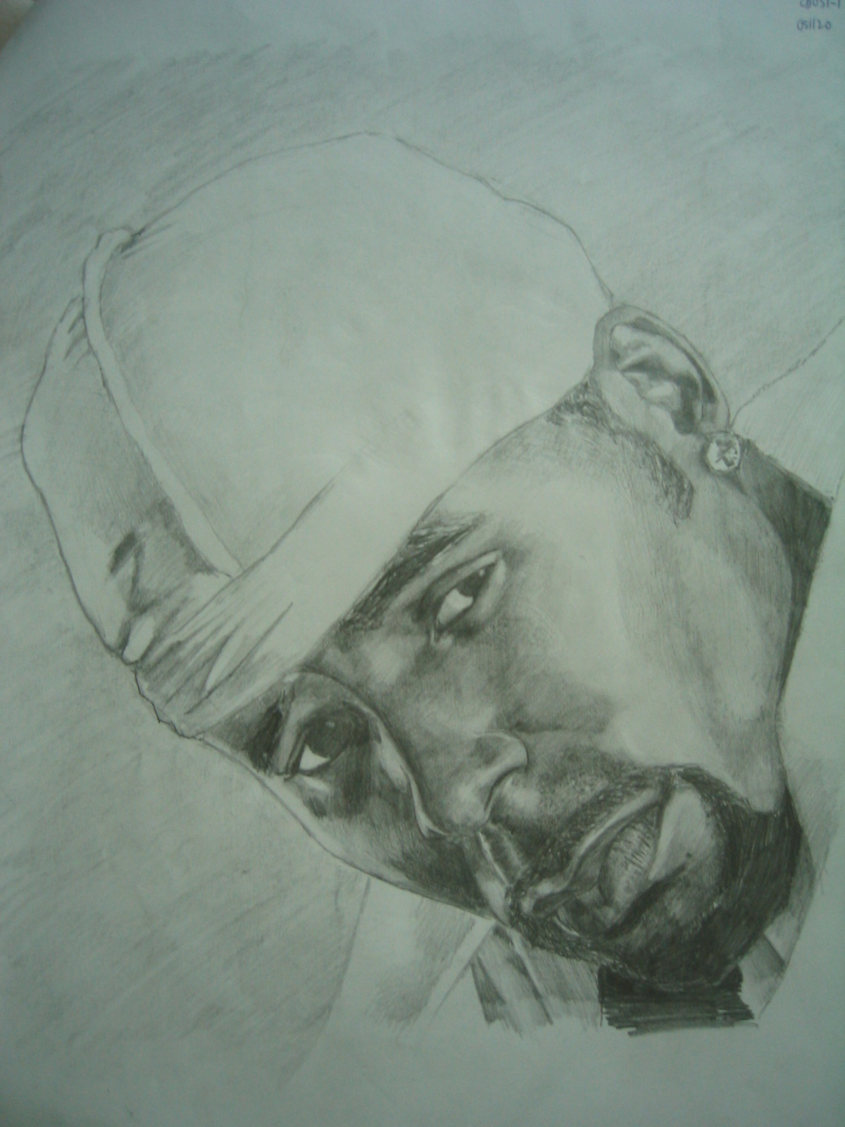 Pencil drawing of r kelly by sketchboy87