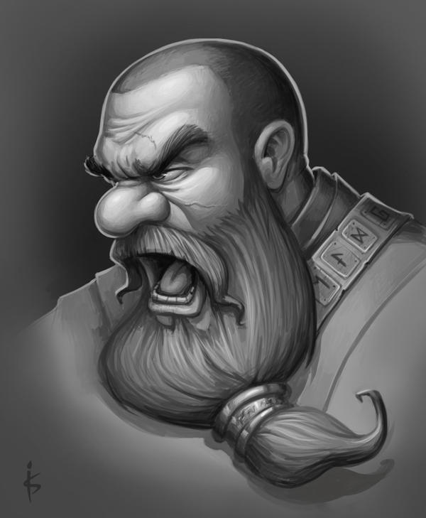 Dwarf head sketch by Goramitrio