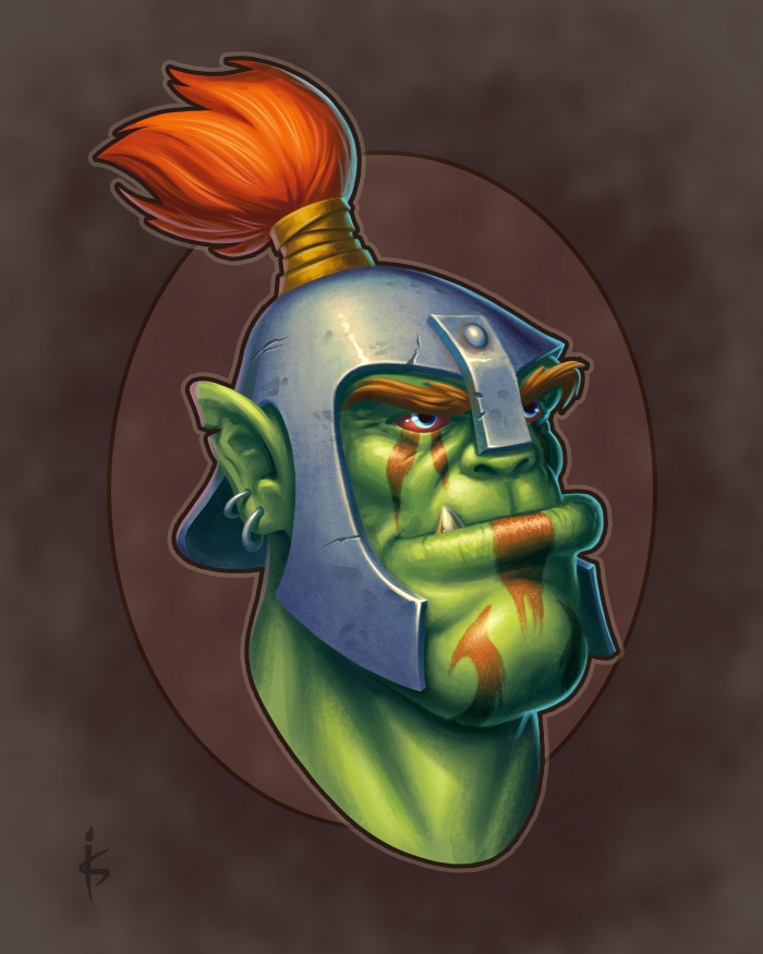Orc Head by Goramitrio