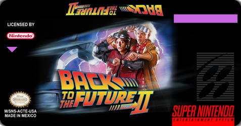Back To The Future 2 SNES Custom Label