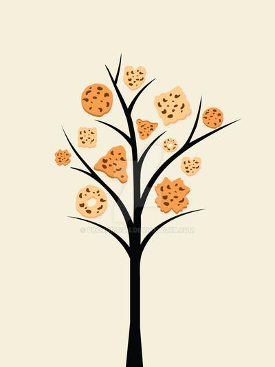 Cookies Tree Print by Proudmoon