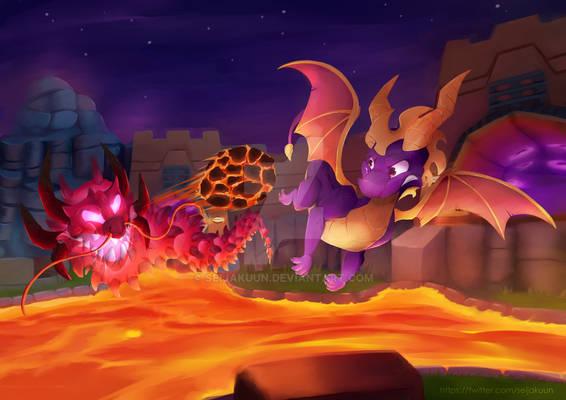 Fireworks Factory (Spyro Fanart)