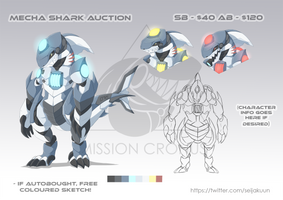 Mecha Shark Adopt Auction - OPEN by Seijakuu