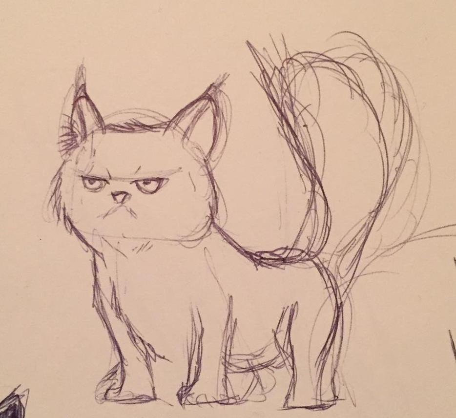 Cat Sketch 2 by art-merc