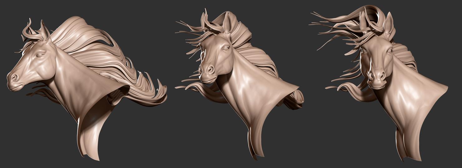 Horse Sculpt WIP by art-merc