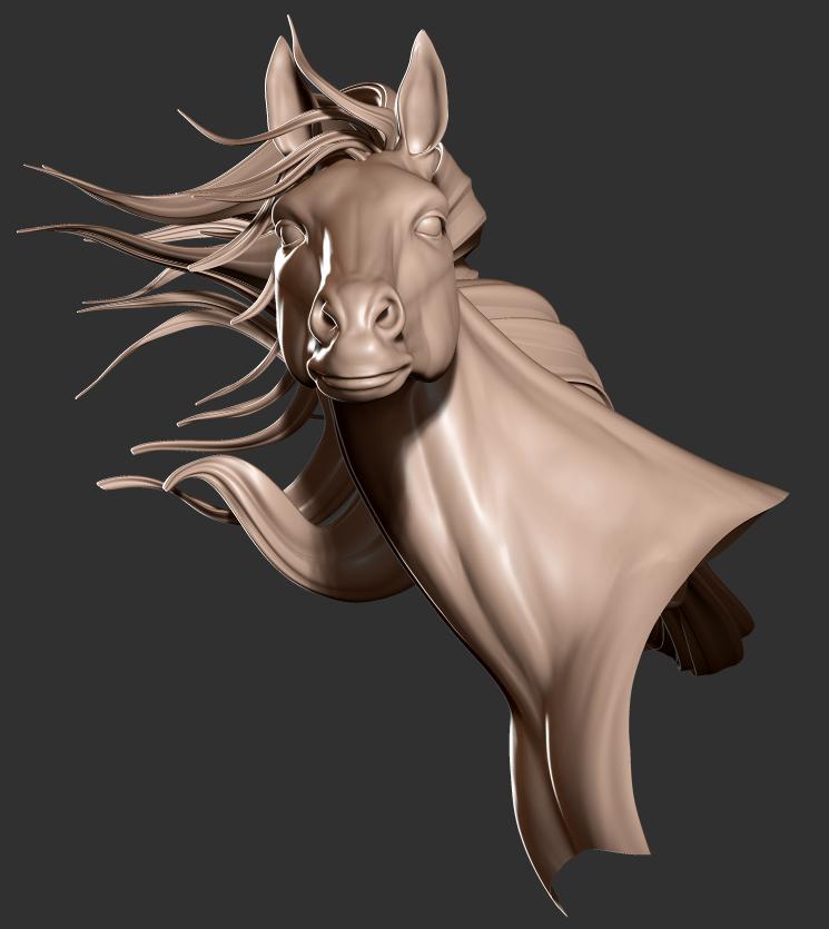 Horse Sculpt WIP 2 by art-merc