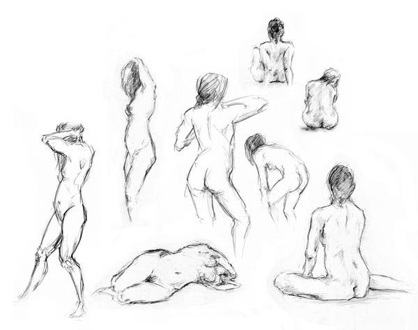 Female Anatomy Practice By Oakks On Deviantart