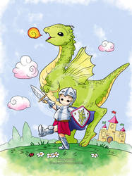 : Little Dragon Hunter : by IreneRoga