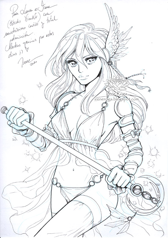 :  Sexy Magical Girl -sketch : by IreneRoga