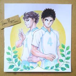 Oiikawa and Iwazumi fanart by IreneRoga