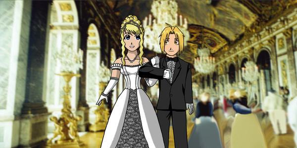Ed and Winry at Debutante Ball by edwinluvr